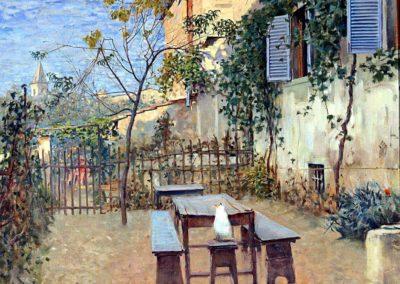 Mattino di settembre a Settignano - Telemaco Signorini(1891)