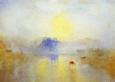 Norham castle, sunrise - William Turner (1835)