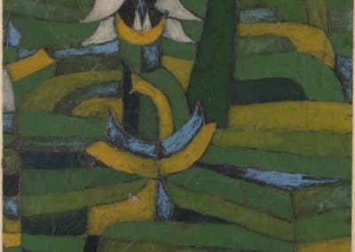 White blossom in the garden - Paul Klee (1920)