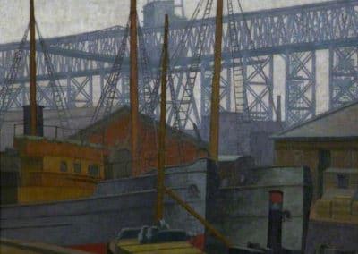 Clarendon Dock, Belfast - Charles Ginner (1936)