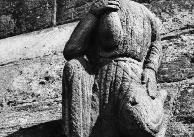 Guebwiller - statue de la tour du transept