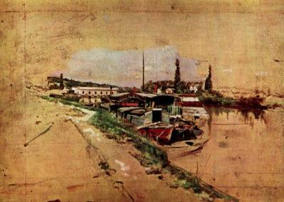 La Seine a Bougival - Giovanni Boldini (1873)