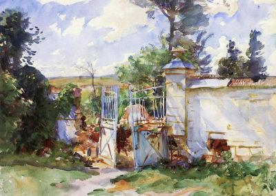 Les portes du chateau Ransart - John Singer Sargent (1918)