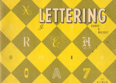 Lettering - Harry B. Wright 1962 (1)