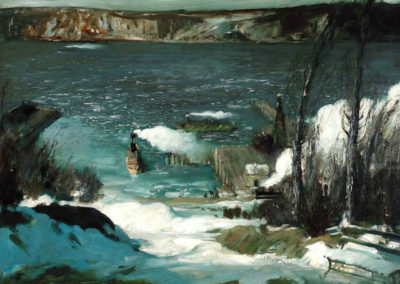 North river - George Bellows (1908)