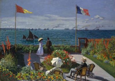 Terrasse à Sainte-Adresse - Claude Monet (1867)