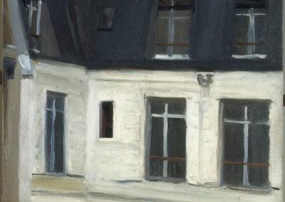 Vue de la cour du 48 rue de Lille, Paris - Edward Hopper (1906)