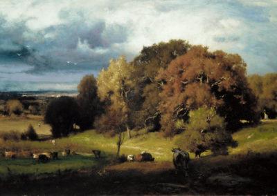 Autumn oaks - George Inness (1887)