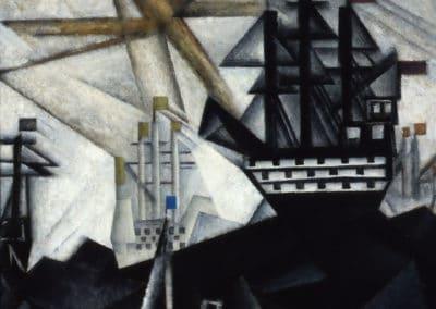 Battle fleet - Lyonel Feininger (1920)