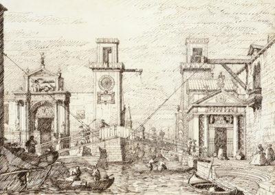 Entrée de l'arsenal - Canaletto (croquis préparatoire)