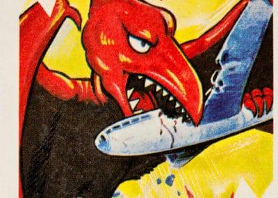 Jeu de cartes du kaiju Pachimon 1970 (6)