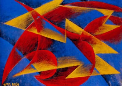 Line of speed - Giacomo Balla (1913)