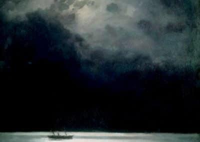 Ship sailing across the moonlit Black Sea - Ivan Aivazovsky (1879)