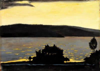 Spring evening, ice break - Hugo Simberg (1897)
