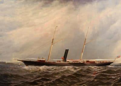 The steam yacht stranger underway - Elisha Taylor Baker (1878)