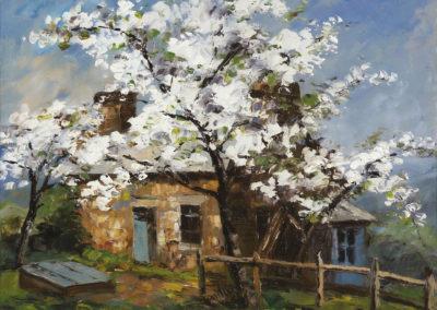 Verge en fleurs - Paul-Émile Pissarro (1871)