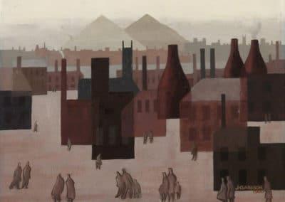 A view of Hanley towards Cobridge - Jack Clarkson (1961)