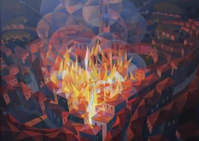 Incendio citta - Gerardo Dottori (1927)