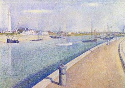 Le canal à Gravelines, Petit-Fort-Philippe - Georges Seurat (1890)