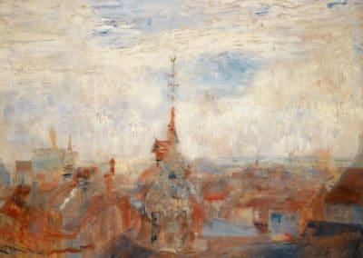 Les toits d'Ostende - James Ensor (1885)