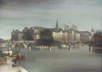 Paris, le pont des Arts et l'île de la Cité - Pierre Hodé (1925)