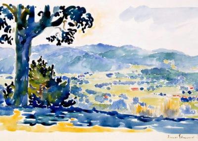 Paysage de Provence - Henri-Edmond Cross (1908)