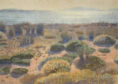 Plage de la Vignasse, les iles d'or, - Henri-Edmond Cross (1891)