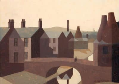 Potteries view with canal - Jack Clarkson (1962)