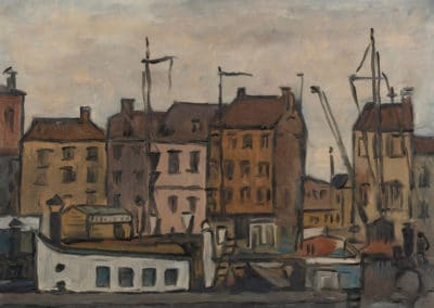 Puerto de Amberes - Joaquin Torres-Garcia (1944)