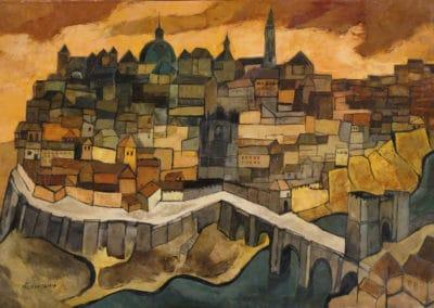 Vue de Tolède - Oswaldo Guayasamin (1940)