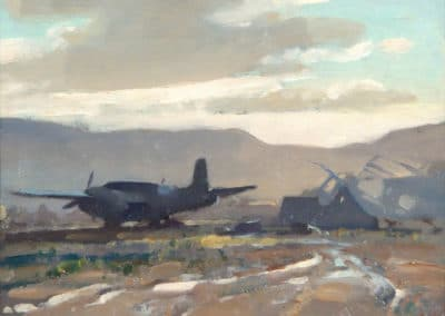 Waterlogged Airfield at Malignano, Italy - Edward Brian Seago (1961)