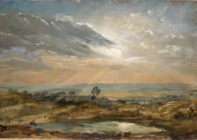 A Hayfield near East Bergholt at sunset - John Constable