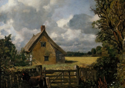 A cottage in a cornfield - John Constable (1817)