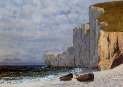 Baie avec falaise - Gustave Courbet