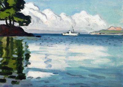 Bateau blanc, Porquerolles - Albert Marquet (1939)