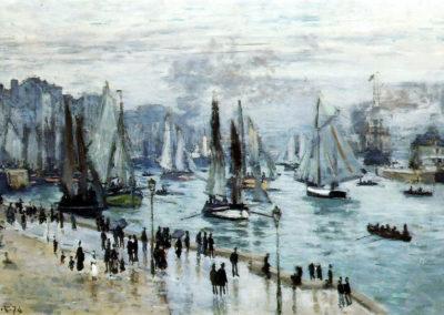 Bateaux de pêche quittant le port du Havre - Claude Monet (1874)