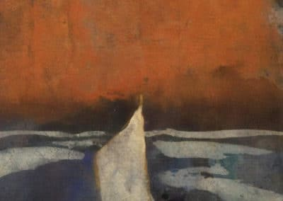 Boat with white sails - Emil Nolde