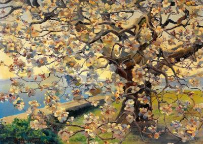 Cerisier en fleurs - Fritz Berthold-Neuhaus (1932)
