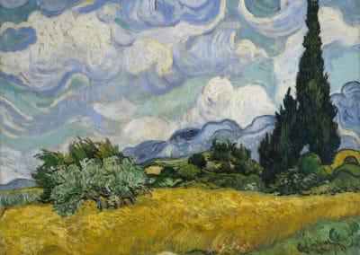 Champ avec cypres - Vincent van Gogh (1889)