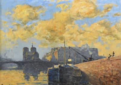 Effet de ciel bleu sur Notre-Dame - Frank Myers Boggs (1899)