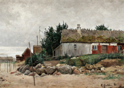 Fishing village, Kivik - Carl Flodman (1885)