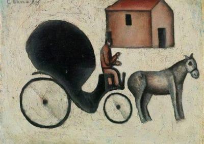 La carrozella - Carlo Carrà (1916)