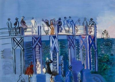 Le ponton et la plage du Havre - Raoul Dufy (1926)