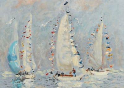 Les yachts pavoisés, Deauville - André Hambourg (1967)