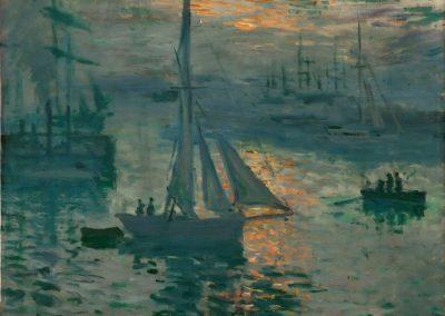 Lever de soleil sur la mer - Claude Monet (1873)