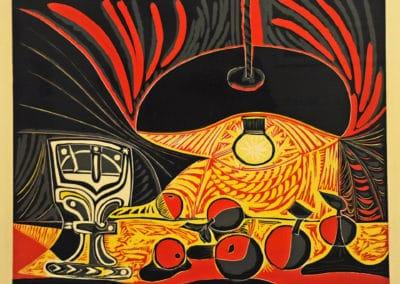 Nature morte à la lampe - Pablo Picasso (1962)
