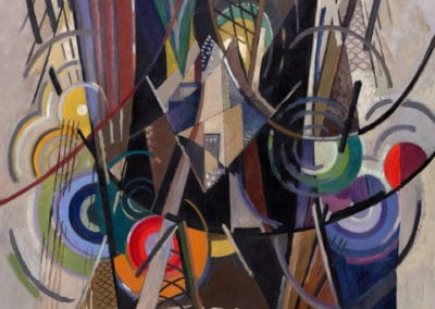 On Brooklyn bridge - Albert Gleizes (1917)