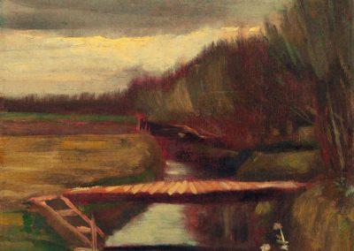 Passerelle sur le fossee - Vincent van Gogh (1883)