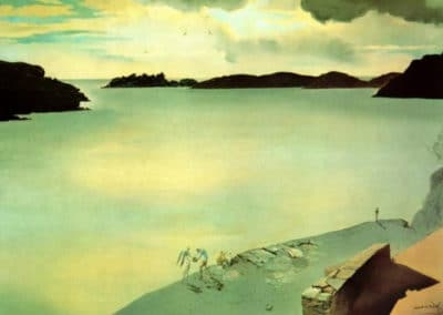 Paysage de port Lligat - Salvador Dali (1950)
