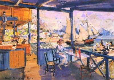 Pier in Gurzuf - Konstantin Korovin (1914)